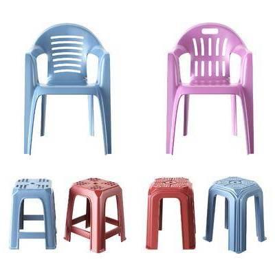 塑料椅子, 单人椅, 塑料凳子, 现代