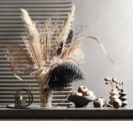 摆件组合, 花艺, 花瓶