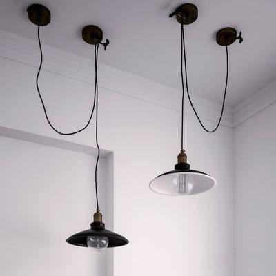 吊灯, 现代吊灯, 工业风吊灯, 艺术吊灯, 灯泡, 现代