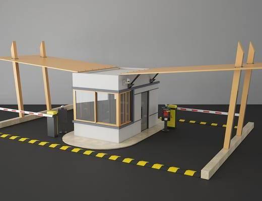 停車場, 收費站, 門禁亭, 門面門頭, 現代