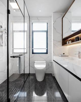 家装, 现代卫生间浴室