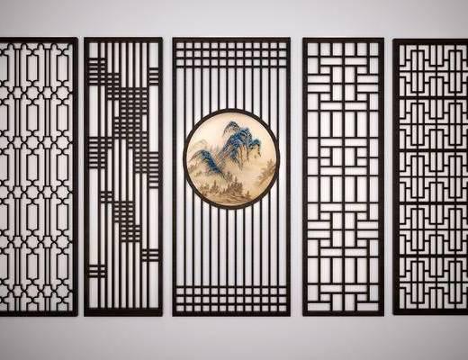 中式雕花, 中式隔断, 中式屏风, 中式屏风隔断, 中式雕花隔断, 中式, 隔断, 新中式