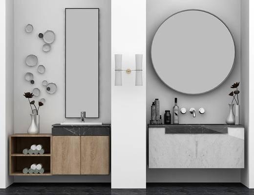 洗手台组合, 洗手台, 墙饰, 现代