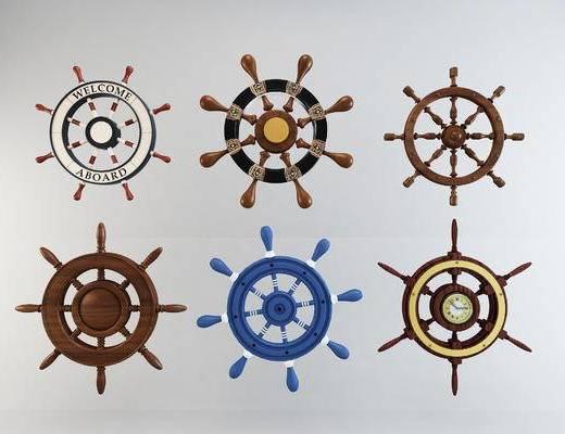 地中海船舵墙饰, 墙面装饰品