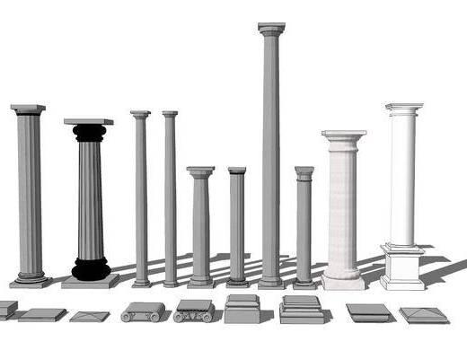 大理石柱, 罗马柱