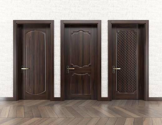 美式室内门, 门构件, 美式门