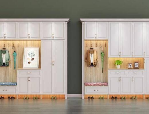 鞋柜, 北欧鞋柜, 摆件, 装饰画, 衣帽, 北欧
