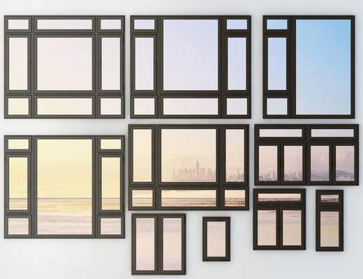 平開窗, 鋁合金門窗, 現代