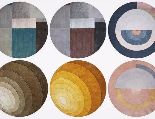 圓形地毯, 地毯組合, 北歐