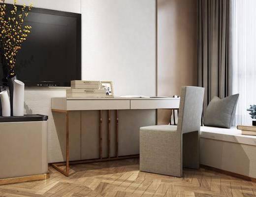 現代, 梳妝臺, 椅子