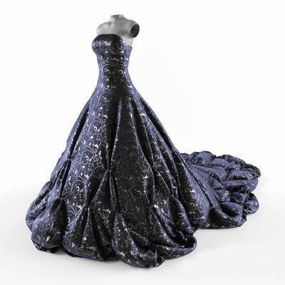 女装, 长裙, 现代