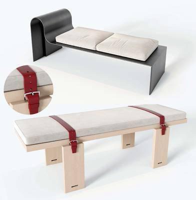 现代, 床脚凳, 单体