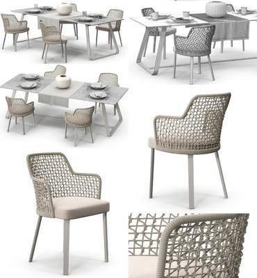 藤椅, 扶手椅, 现代餐桌椅