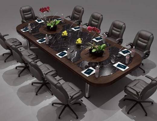 会议桌组合, 办公桌椅组合, 现代