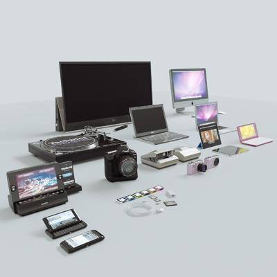電腦, 手提電腦, 相機, 數碼, 手機, 現代數碼, 現代
