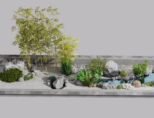 园林组合, 柱子, 新中式