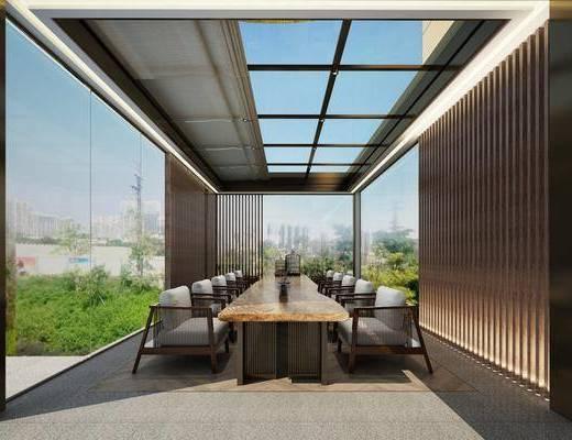 现代, 茶馆, 茶室, 桌椅组合