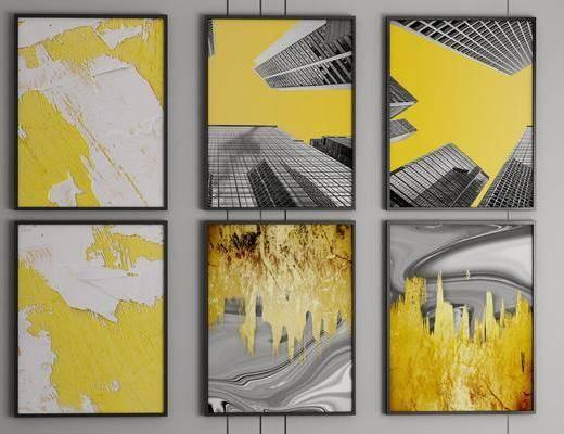 装饰画, 艺术画, 抽象画组合