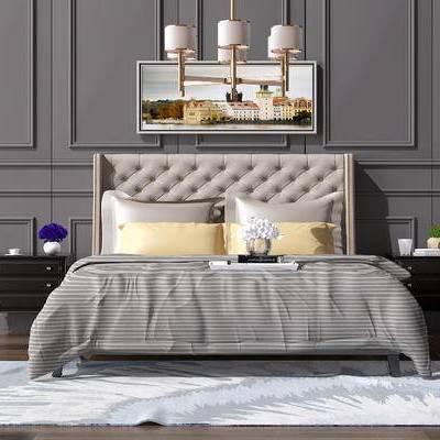 现代双人床, 北欧双人床, 简欧双人床, 中式双人床, 美式双人床, 现代