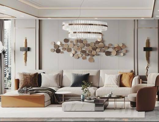 客厅, 餐厅, 现代, 家装