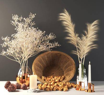摆件组合, 花瓶, 植物, 花篮