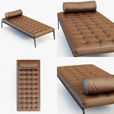 躺椅, 皮革, 現代