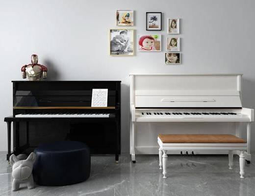 挂画, 钢琴, 装饰画, 乐器