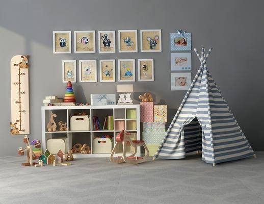 现代儿童房, 装饰柜