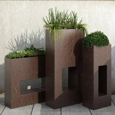 户外盆栽, 植物, 现代