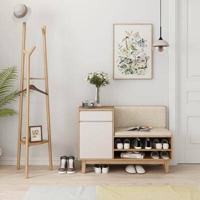 鞋柜, 鞋子, 布鞋, 北欧鞋柜, 实木鞋柜