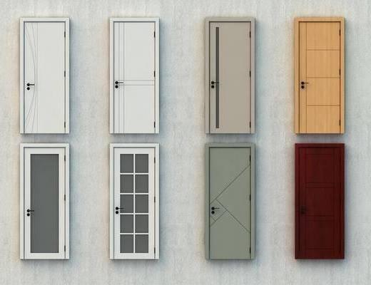平开门, 门组合, 防盗门, 安全门, 屏蔽门, 防火门, 现代