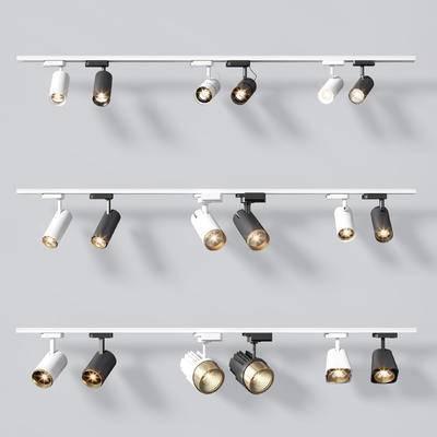 射灯, 灯, 轨道灯, 灯具, 现代