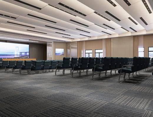 会议室, 报告厅, 现代会议室, 单椅