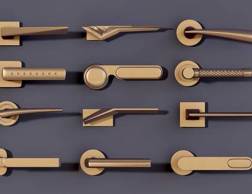 门把, 金属, 现代金属门把, 把手