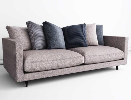 现代简约, 多人沙发, 现代沙发, 沙发