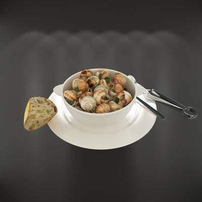海螺, 碗具, 现代