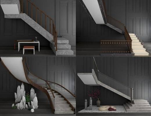 新中式楼梯, 楼梯, 扶手楼梯