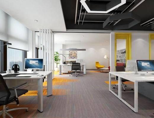 办公桌, 开敞办公室, 经理室