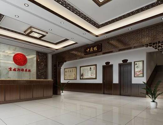 中式, 中医馆, 墙饰