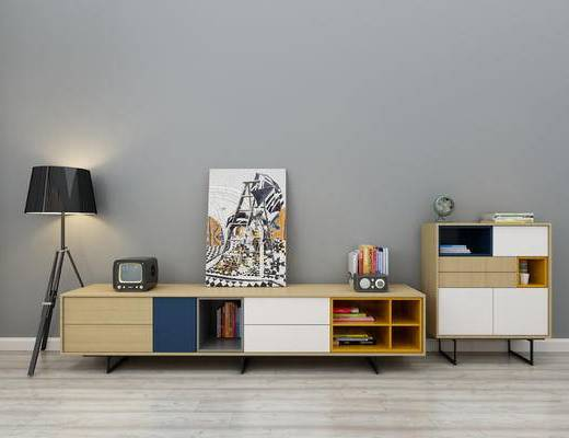 北欧电视柜, 边柜, 餐边柜, 玄关柜, 端景台, 电视桌, 落地灯, 装饰柜摆件