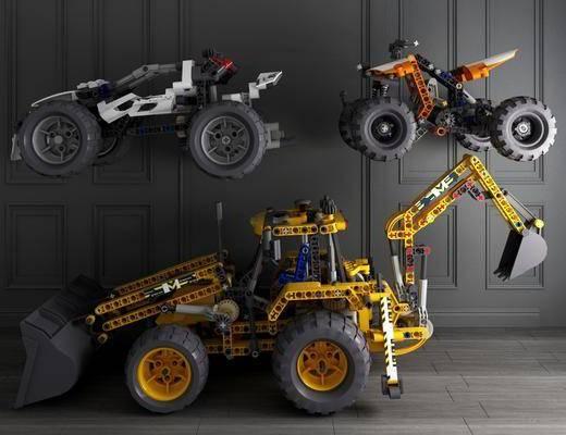 现代玩具, 玩具, 乐高, 挖掘机