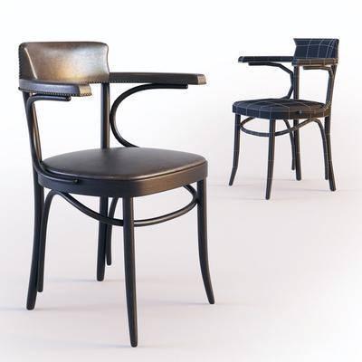 单人椅, 休闲椅, 餐椅, 现代