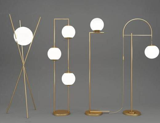 现代简约, 现代落地灯, 金属落地灯, 落地灯组合