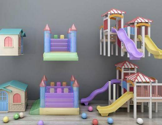 游乐设备, 儿童乐园, 现代游乐设备, 现代, 滑滑梯