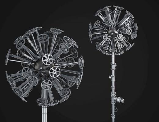 蒲公英雕塑, 工业风