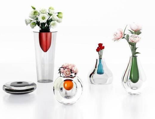 玻璃花瓶, 陶瓷器皿, 花瓶花卉, 现代