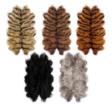 绒毛地毯, 皮毛, 地毯
