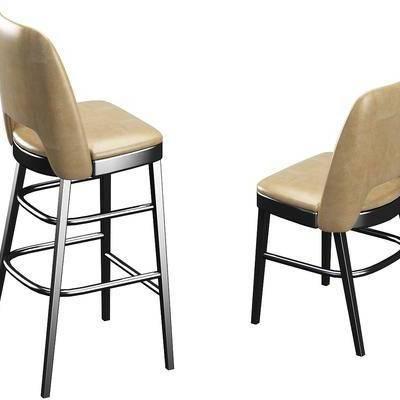 吧椅, 休闲椅, 长椅, 单椅, 现代