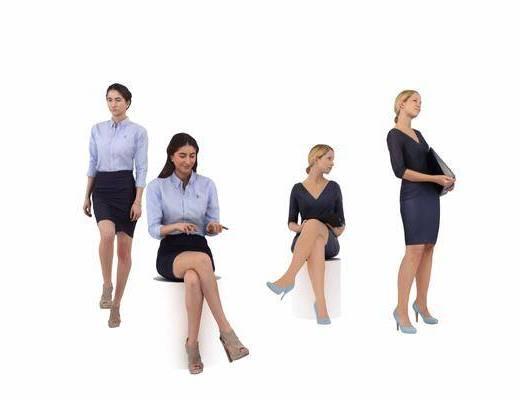 人物组合, 女人, 服饰, 现代