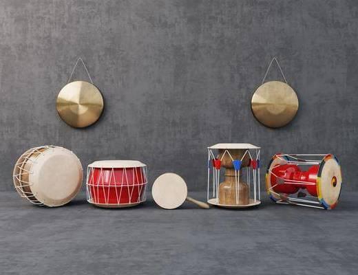 锣鼓, 乐器, 组合